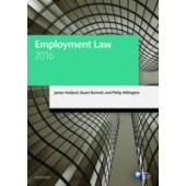 Employment Law 2016 - ISBN 9780198747574