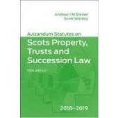 Avizandum Statutes on Scots Property, Trusts and Succession Law 2018-2019 - ISBN 9781904968948