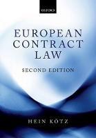 European Contract Law - ISBN 9780198800040