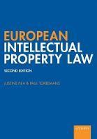 European Intellectual Property Law - ISBN 9780198831280