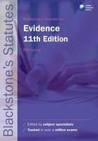 Blackstone's Statutes on Evidence - ISBN 9780199582341