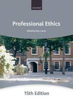 Professional Ethics - ISBN 9780199591855