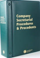 Butterworths Company Secretarial Procedures and Precedents: (Pay-In-Advance Subscription) - ISBN 9780406996459