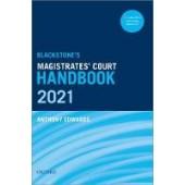 Blackstone's Magistrates' Court Handbook 2021 - ISBN 9780192842862