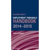 Blackstone's Employment Tribunals Handbook 2014-15 - ISBN 9780198719427