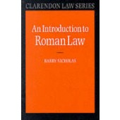 An Introduction to Roman Law - ISBN 9780198760634