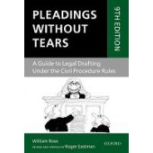 Pleadings Without Tears: A Guide to Legal Drafting Under the Civil Procedure Rules - ISBN 9780198804055