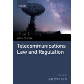 Telecommunications Law and Regulation - ISBN 9780198807414