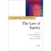 Philosophical Foundations of the Law of Equity - ISBN 9780198817659