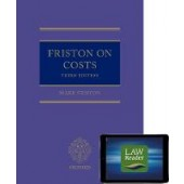 Friston on Costs (book and digital pack) - ISBN 9780198823322