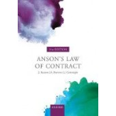 Anson's Law of Contract - ISBN 9780198829973