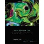 Employment Law in Context - ISBN 9780198840312