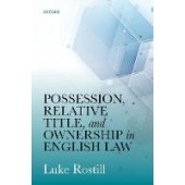 Possession, Relative Title, and Ownership in English Law - ISBN 9780198843108