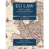 EU Law: Text, Cases, and Materials UK Version - ISBN 9780198859840
