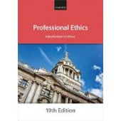 Professional Ethics - ISBN 9780198860440