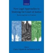 New Legal Approaches to Studying the Court of Justice - ISBN 9780198871477