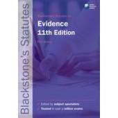 Blackstone's Statutes on Evidence - ISBN 9780199582341