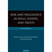 Risk and Negligence in Wills, Estates, and Trusts - ISBN 9780199672929