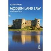 Modern Land Law - ISBN 9780367484484