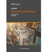 The Law of Evidence - ISBN 9780414075597