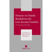 Finance on Family Breakdown for Low Income Families - ISBN 9780853089759