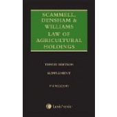 Scammell, Densham & Williams' Law of Agricultural Holdings - Supplement - ISBN 9781474310390