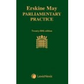 Erskine May: Parliamentary Practice - ISBN 9781474313360