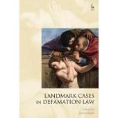 Landmark Cases in Defamation Law - ISBN 9781509916702