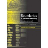 Boundaries of Personal Property: Shares and Sub-Shares - ISBN 9781841134598