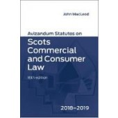 Avizandum Statutes on Scots Commercial and Consumer Law 2018-2019 - ISBN 9781904968924